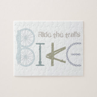 トレールバイクの落書きのスポーツの引用文に乗って下さい ジグソーパズル