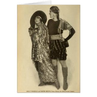 トロッコのRoszickaマーティンブラウン1915のダンサーのポートレート カード