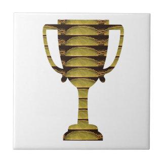 トロフィの金ゴールド: 事業の成功、競争、スポーツ タイル