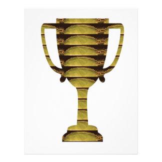 トロフィの金ゴールド: 事業の成功、競争、スポーツ レターヘッド