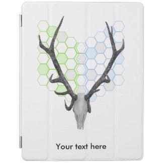 トロフィの雄鹿の(雄ジカの)枝角の幾何学的なパターン iPadスマートカバー