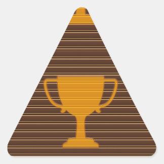 トロフィ賞のコップの勝者の成功NVN278はギフトを遊ばします 三角形シール