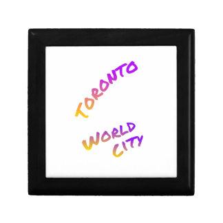 トロントの世界都市、多彩な文字の芸術 ギフトボックス