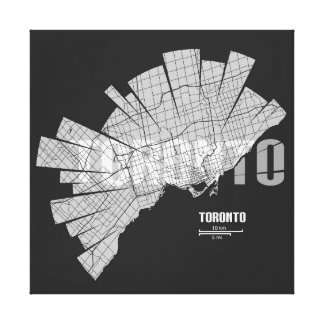トロントの地図のキャンバスプリント キャンバスプリント