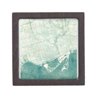 トロントの地図の青いヴィンテージの水彩画 ギフトボックス