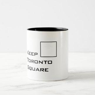 トロントの正方形のマグを保って下さい ツートーンマグカップ
