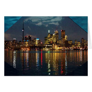 トロントの都心の光景のCNTowerの水辺地帯のおもしろい カード