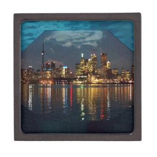 トロントの都心の光景のCNTowerの水辺地帯のおもしろい ギフトボックス