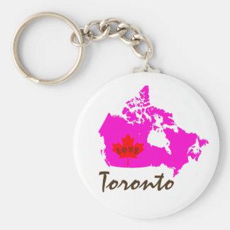 トロントオンタリオはカナダの地域のkeychainをカスタマイズ キーホルダー