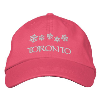 トロントオンタリオカナダの雪片の帽子 刺繍入りキャップ