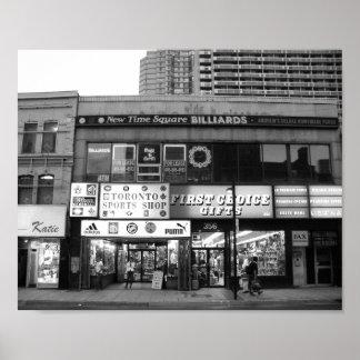 トロントカナダの店の前部白黒写真 ポスター