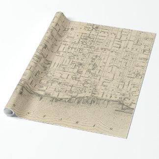 トロントカナダ(1880年)のヴィンテージの地図 ラッピングペーパー