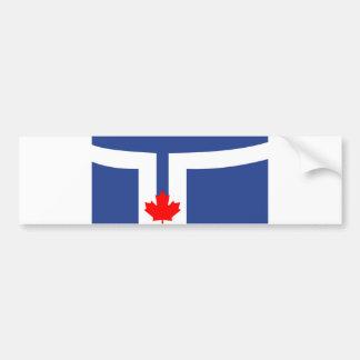 トロント都市旗のカナダの記号 バンパーステッカー