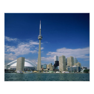 トロント、オンタリオのCNのタワーそしてSkydome、 ポスター