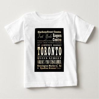トロント、カナダの魅力及び有名な場所 ベビーTシャツ