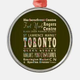 トロント、カナダの魅力及び有名な場所 メタルオーナメント