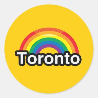 トロントLGBTのプライドの虹 ラウンドシール