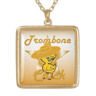 トロンボーンのひよこ#10 ゴールドプレートネックレス