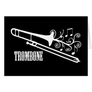 トロンボーンのベクトルデザイン グリーティングカード