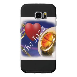 トロンボーンのミュージシャン愛ジャズIphone、Ipad Samsung Galaxy S6 ケース