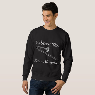 トロンボーンの人の基本的な暗いスエットシャツ スウェットシャツ