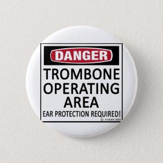 トロンボーンの操業区域 5.7CM 丸型バッジ