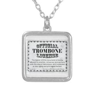 トロンボーン免許証 シルバープレートネックレス