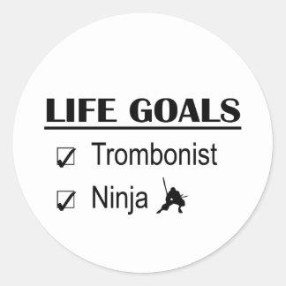 トロンボーン奏者の忍者の生命ゴール ラウンドシール