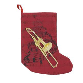 トロンボーン(弁)音楽ストッキング スモールクリスマスストッキング