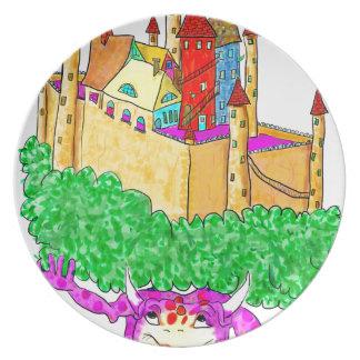 トロールおよび城 プレート