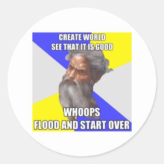トロールの神の洪水 ラウンドシール