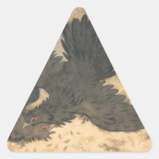 トロールの鳥はTheodによってそれでハンマーおよびはさみ行きます 三角形シール