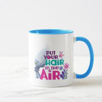 トロールは空気に あなたの毛を置きました マグカップ