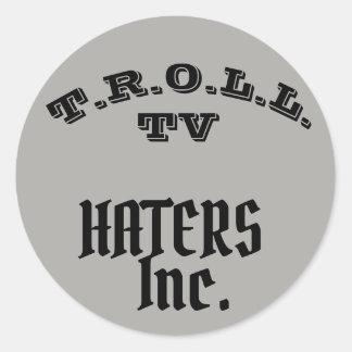 トロールTVの嫌悪症株式会社COLLABのステッカー ラウンドシール