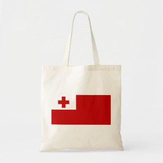 トンガの予算の戦闘状況表示板の旗 トートバッグ