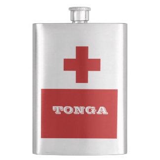 トンガの島の旗の赤十字 フラスク