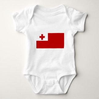 トンガの島の旗の赤十字 ベビーボディスーツ