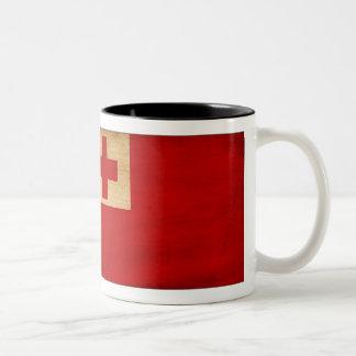 トンガの旗のマグ ツートーンマグカップ