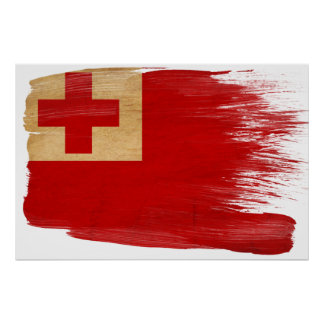 トンガの旗ポスター ポスター