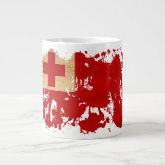 トンガの旗 ジャンボコーヒーマグカップ