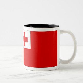 トンガの旗 ツートーンマグカップ