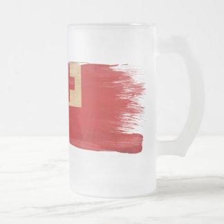 トンガの旗 フロストグラスビールジョッキ