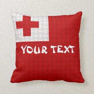 トンガのTongan旗: 文字を加えて下さい クッション