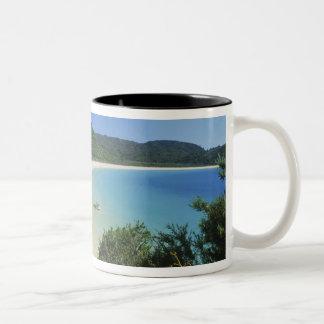 トンガ湾、アベルTasman NPの新しい南島 ツートーンマグカップ