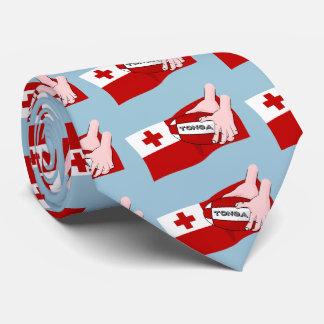 トンガ王国のTonganラグビーの旗 ネックウェアー