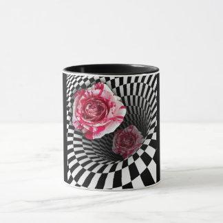 トンネルのデザインのマグ2のペパーミントのバラ マグカップ