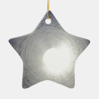 トンネルの端 陶器製星型オーナメント