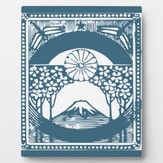 トンボが付いている富士山 フォトプラーク