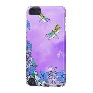 トンボとの紫色の花 iPod TOUCH 5G ケース