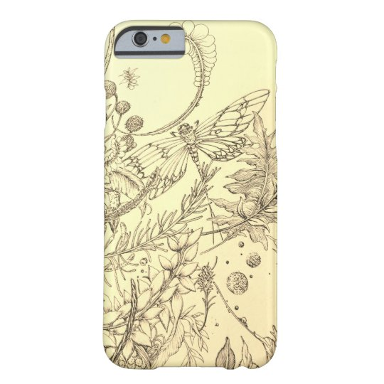 トンボと植物 BARELY THERE iPhone 6 ケース